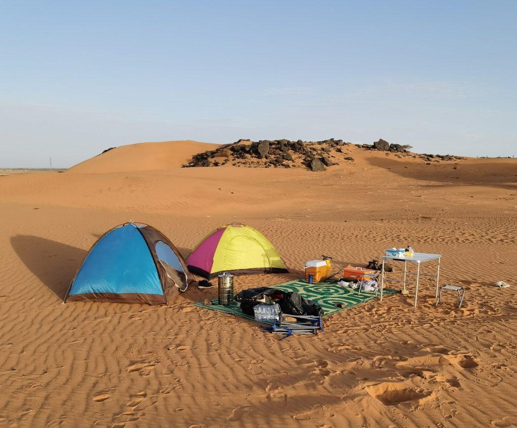 Sudan Pyramids Camp at Meroe www.tours.sd
